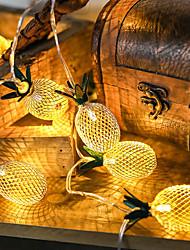cheap -1.5m 10 Beads Decorative Party Wedding Garden Led Light Strings Atmosphere Arrangement Iron Art Retro Pineapple Lamp