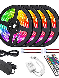 cheap -4x5M LED Light Strips RGB Tiktok Lights 5050 10mm 30 LEDsMeters 44Key IR Controller and 1x1 To 4 Cable Connnector with 10PCS Connecting line DC12V 140W