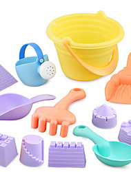 cheap -Beach Sand Toys Set Sand Molds Sand Shovel Tool Kits 12 pcs Plastic ABS Parent-Child Interaction Large Size Holiday For Kid's Boys' Girls'