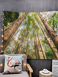 cheap -Home Living Green Tree Tapestry Wall Hanging Tapestries Wall Blanket Wall Art Wall DecorGreen ForestTapestry Wall Decor