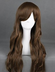 cheap -Cosplay Wig Lolita Curly Cosplay Halloween With Bangs Wig Long Brown Synthetic Hair 31 inch Women's Anime Cosplay Elastic Brown