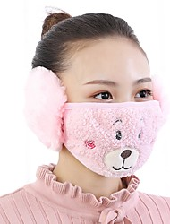 cheap -Cute Animals Pattern Fleece Anti-Dust Winter Thermal Adult Respirator Face Masks Health Gauze Mask (Random Delivery)