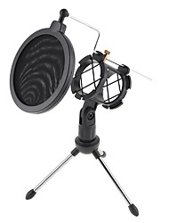 cheap -Studio Microphone Tripod Stand Foldable Desktop Microphone Bracket with Shock Mount Mic Holder Clip and Pop Filter for Instruments Voice Overs Recording Podcasting YouTube Karaoke Gaming Streaming