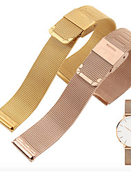 cheap -Smart Universal Milanese Watchband 20mm 22mm Silver Stainless Steel Strap Band Replacement Bracelet strap