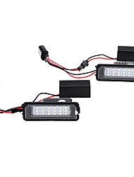 cheap -Pair LED License Plate Lights for Seat VW for Porsche