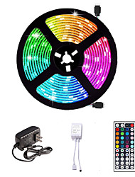 cheap -LED Strip Light 16.4ft 5M SMD 5050 RGB 300leds 10mm Strips Lighting Flexible Color Changing with 44 Key IR Remote Ideal for Home Kitchen Christmas TV Back Lights DC 12V
