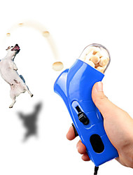 cheap -Creative Dog Food Treat Launcher Pet Snack Mini Feeder Catapult Interactive Toys Jump Training Tools