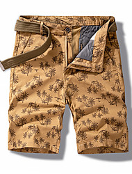 cheap -Men's Streetwear Punk & Gothic Going out Weekend Slim Cotton Shorts Tactical Cargo Pants - Plants Tropical Sporty Print Outdoor Spring Summer Black Khaki Dark Gray US34 / UK34 / EU42 / US36 / UK36