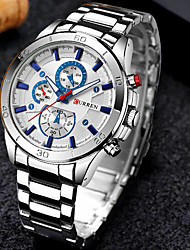 cheap -CURREN Men's Steel Band Watches Analog Quartz Formal Style Modern Style Luxury Water Resistant / Waterproof Shock Resistant / One Year / Stainless Steel / Japanese