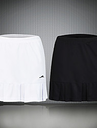 cheap -Women's Tennis Golf Skirt Butt Lift Quick Dry Breathable Sports Outdoor Summer Solid Color White Black / High Elasticity / High Rise