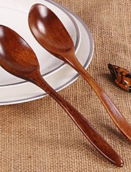cheap -Wooden Spoon Bamboo Kitchen Cooking Utensil Tool Soup Teaspoon Catering Environmental Tableware For Kicthen 1PCS 18CM