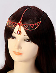 cheap -Women's Hair Jewelry For Gift Festival Flower Cord Imitation Diamond Red 1pc