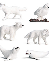 cheap -Action Figure Action & Toy Figure Bear Marine animal Polar bear Animals PVC (Polyvinylchlorid) Kid's Adults' Party Favors, Science Gift Education Toys for Kids and Adults