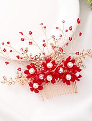 cheap -Fashion Alloy Hair Combs / Headdress with Rhinestone / Imitation Pearl 1 Piece Wedding / Special Occasion Headpiece