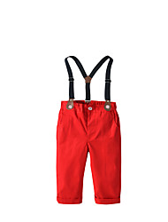 cheap -Toddler Boys' Basic Solid Colored Overall & Jumpsuit Red