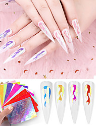 cheap -1 pcs Foil Sticker Creative nail art Manicure Pedicure Color-Changing / Novelty Trendy / Rock Party / Evening / Birthday Party