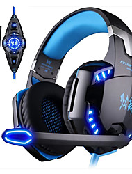 cheap -KOTION EACH G2200 Gaming Headphone 7.1 Surround Vibrator Stereo Computer USB Headsets Headphones LED with Microphone for PC