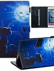 Недорогие -чехол для яблока ipad mini 3/2/1 / ipad mini 4 / ipad mini 5 кошелек / визитница / с подставкой для всего тела чехлы из искусственной кожи кошка и солнце / тпу