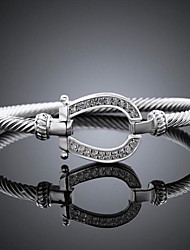 cheap -Women's Chain Bracelet Classic Fashion Fashion Silver Plated Bracelet Jewelry Silver For Party Evening Gift