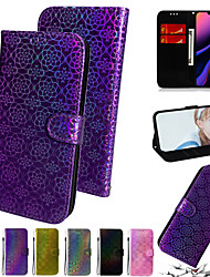 cheap -Gradient Colorful PU Leather Phone case for iPhone SE 2 2020 SE2 11 max pro XS Max XR X 8 7 6 Plus Card Slot Flip Wallet Cover