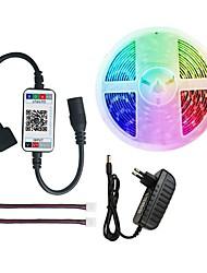 cheap -LED Strip Light RGB 5050 300 leds light strip RGB 5M  bluetooth Music Remote Adapter 12V 3A