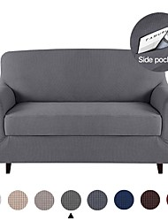 cheap -1 Set of 2 Pieces Stretch Couch Covers Sofa Slipcover Protector Cover Include Individual Seat Cushion Cover for 1~4 Cushion Seater  for Living Room Machine Washable