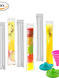 cheap -80pcs/Pack Plastic FDA Popsicles Molds Freezer Bags Ice Cream Pop Making Mould DIY Yogurt Summer Drinks Kids Hand Crafts