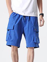 cheap -Men's Shorts Tactical Cargo Pants - Solid Colored Drawstring Breathable Black Blue Gray XS / US32 / UK32 / EU40 / S / US34 / UK34 / EU42 / M / US36 / UK36 / EU44