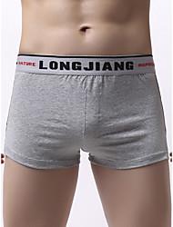 voordelige -Heren Standaard Boxer - Normaal Medium Taille Wit Zwart Rood S M L
