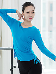 cheap -Ballet Top Ruching Bandage Women's Training Performance Long Sleeve High Elastane