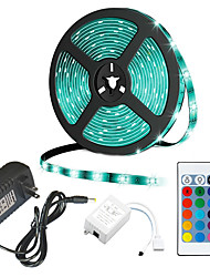 cheap -5m Flexible LED Strip Lights RGB Tiktok Lights 300 LEDs 2835 SMD 8mm 12 V Remote-Control DC 12 V IP44