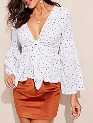 cheap -Women's Polka Dot Shirt Daily White