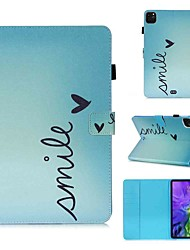 cheap -Case For Apple iPad Pro 11''(2020) / iPad 2019 10.2 / Ipad air3 10.5' 2019 Wallet / Card Holder / with Stand Full Body Cases Smile PU Leather / TPU for iPad Air / iPad 4/3/2 / iPad (2018)