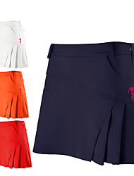 cheap -Women's Golf Skirt Quick Dry Breathable Soft Athleisure Outdoor Summer Elastane Solid Color Fashion Red Orange White / Stretchy