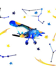 cheap -Creative Stars Plane Constellation Wall Sticker Kid Bedroom Room Wall Decoration Sticker