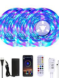 cheap -MASHANG 15M(3*5M) RGB LED Strip Lights Music Sync Smart LED Lights Tiktok Lights 900LEDs SMD 2835 Color Changing with 24 keys Remote Bluetooth Controller for Home Bedroom TV Back Lights DIY Deco