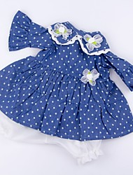 cheap -Reborn Baby Dolls Clothes Reborn Doll Accesories Cotton Fabric for 17-18 Inch Reborn Doll Not Include Reborn Doll Flower Soft Pure Handmade Girls' 2 pcs