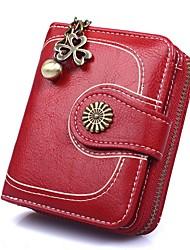 cheap -Women's Bags Wallet Zipper Daily Wine Black Blue Yellow