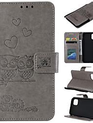 cheap -Case For Motorola E5 E5PLUS E4 G6PLUS G6 MOTO G7 MOTO E4plus G6 PLAY Card Holder Flip Pattern Full Body Cases owl animal heart PU Leather TPU