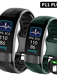 cheap -P11 Smart Band 0.96 ECGPPG Blood Pressure Heart Rate Monitor Activity Fitness Tracker Smart Bracelet For IOS Android