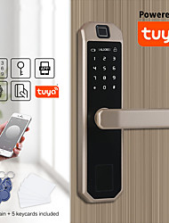 cheap -Zinc Alloy Fingerprint Lock / Intelligent Lock Smart Home Security System Fingerprint unlocking / Password unlocking Household / Home / Apartment Security Door / Copper Door (Unlocking Mode