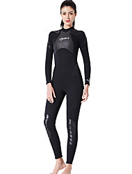 cheap -Dive&Sail Women's Full Wetsuit 3mm SCR Neoprene Diving Suit Thermal / Warm Quick Dry Long Sleeve Back Zip Knee Pads - Diving Surfing Water Sports Solid Colored Spring &  Fall / Stretchy