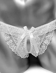 cheap -Men's Lace G-string Underwear - Normal Low Waist White Black Blushing Pink One-Size