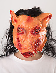 cheap -Halloween Party Toys Masks Costume Hooded Masks 2 pcs Pig Spoof Masquerade Vinyl Adults Trick or Treat Halloween Party Favors Supplies