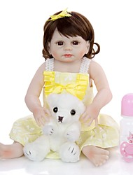 cheap -KEIUMI 19 inch Reborn Doll Baby & Toddler Toy Reborn Toddler Doll Baby Girl Gift Cute Washable Lovely Parent-Child Interaction Full Body Silicone 19D19-C369-T19 with Clothes and Accessories for
