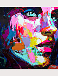 cheap -Palette knife Abstract People Face Art Paintings Canvas Wall Art Modern Home living room Office Decor Abstract Painting