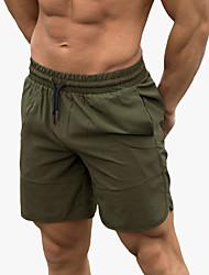 billige -Herre Løbeshorts Athletic Underdele Snørelukning Fitness Gym træning Opvisning Løb Træning Åndbart Hurtigtørrende Blød Normal Sport Sort Army Grøn Mørkegrå Lysegrå Mode / Mikroelastisk