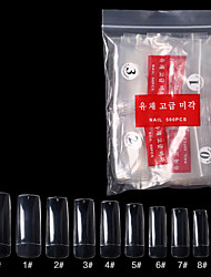 cheap -Clear Coffin Fake Nails - Acrylic Nails Coffin Shaped Nail Tips 500 Pcs Ballerina False Nails with bag 10 Sizes