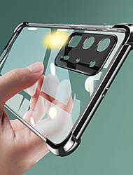 Недорогие -huawei p40pro прозрачный четыре угла устойчивы к гальванике корпуса мобильного телефона mate30pro мелкопористый мягкий тпу процесс гальваники nova7 защитная оболочка