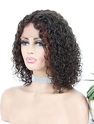 cheap -Remy Human Hair L Part Wig Middle Part style Brazilian Hair Deep Curly Natural Wig 150% Density Women's Long Human Hair Lace Wig